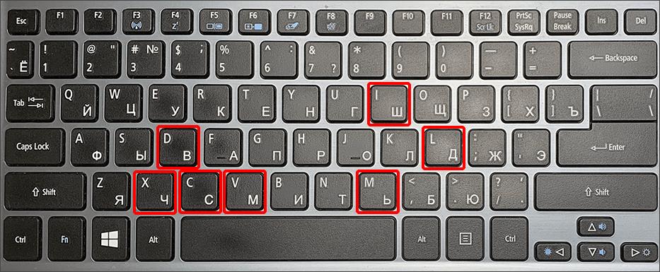 Римские цифры на клавиатуре