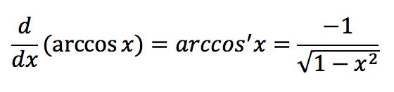 Обратная тригонометрическая функция: Арккосинус (arccos)