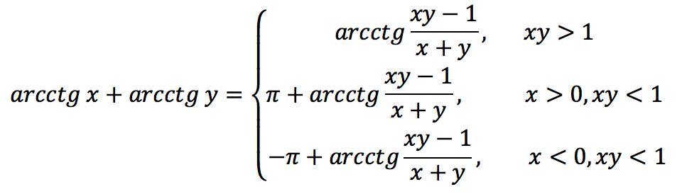 Суммы тригонометрических функций: формулы