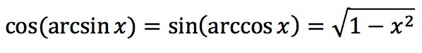 Обратная тригонометрическая функция: Арксинус (arcsin)