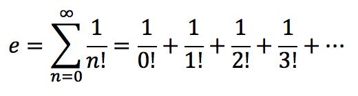 Число e как сумма ряда