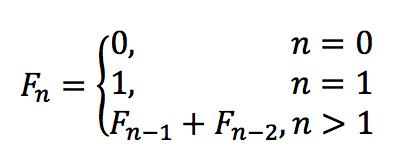 Формула последовательность Фибоначчи