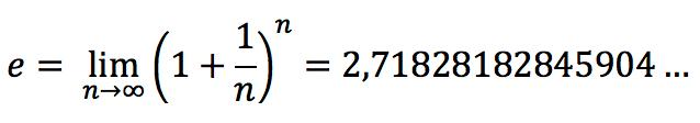 Число e через предел