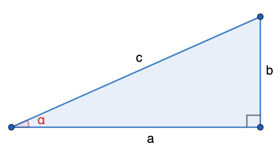 Острый угол прямоугольного треугольника
