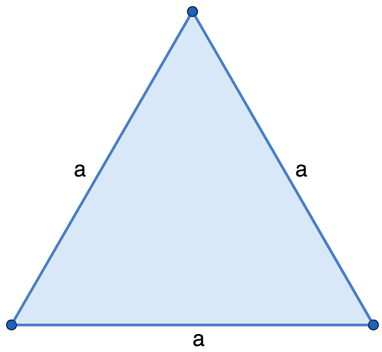 Площадь равностороннего треугольника