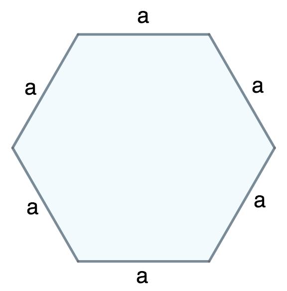 Площадь правильного шестиугольника