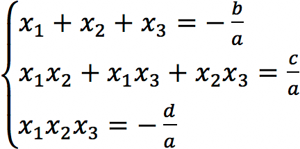 Теорема Виета - кубическое уравнение
