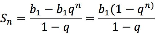 Формула суммы первых членов геометрической прогрессии