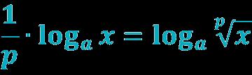 Формула логарифма корня
