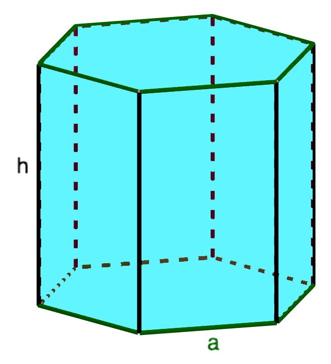 Площадь поверхности правильной шестиугольной призмы