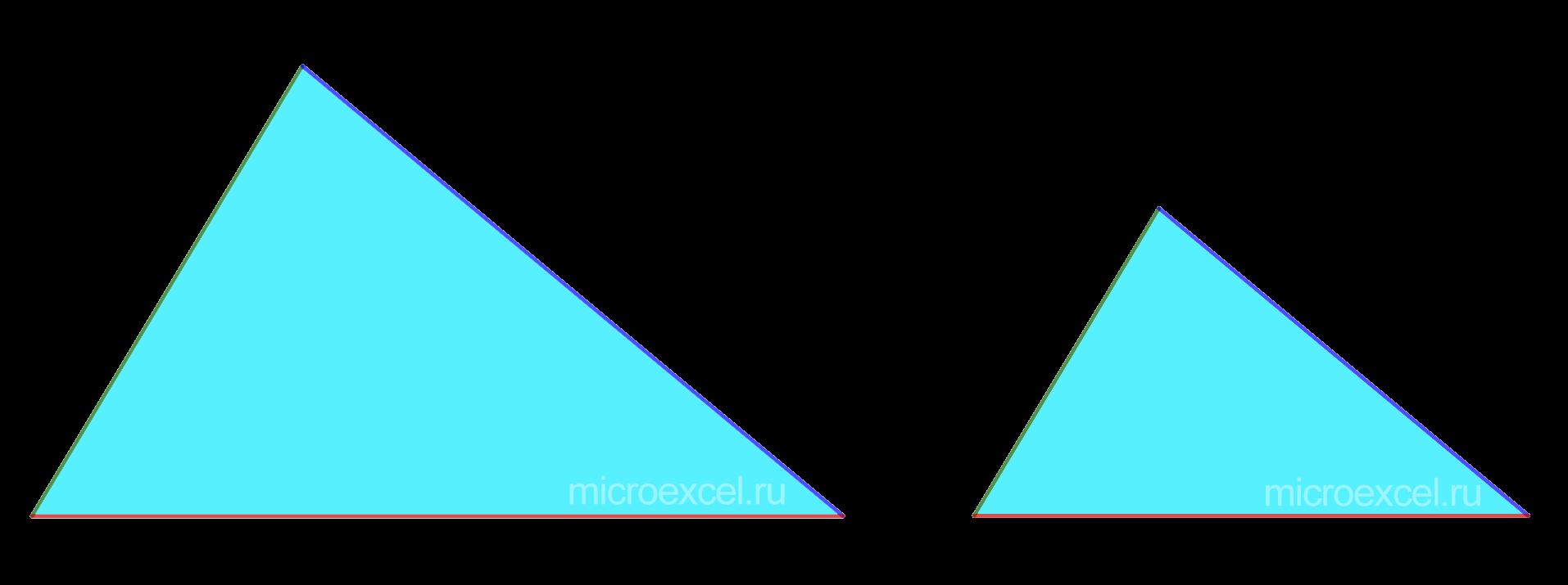 Подобные треугольники по трем пропорциональным сторонам