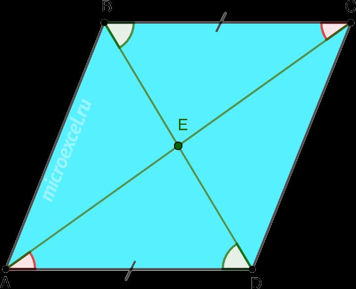 Равенство треугольников в параллелограмме по второму признаку