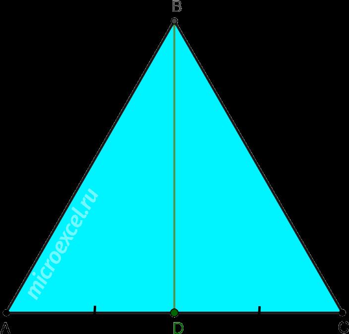 Медиана в равностороннем треугольнике