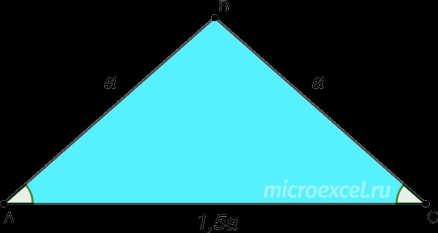 Свойства равнобедренного треугольника (пример)