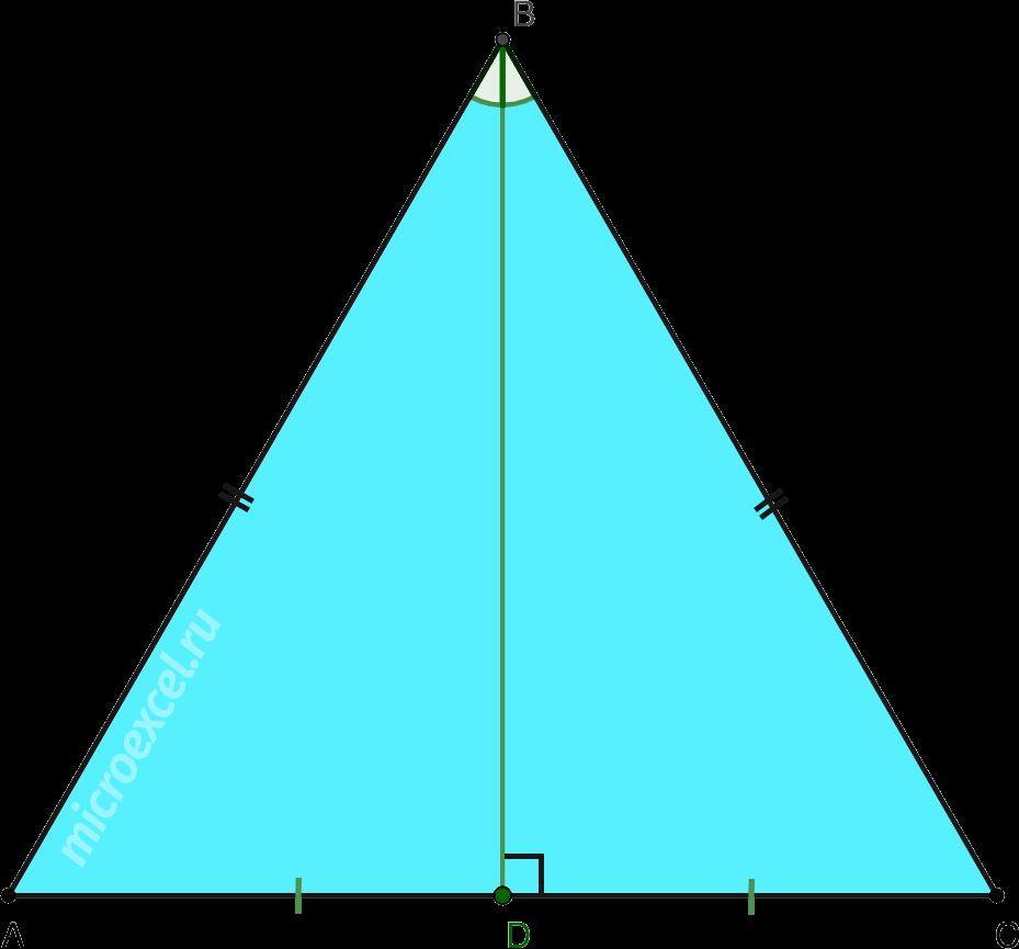 Биссектриса в равностороннем треугольнике
