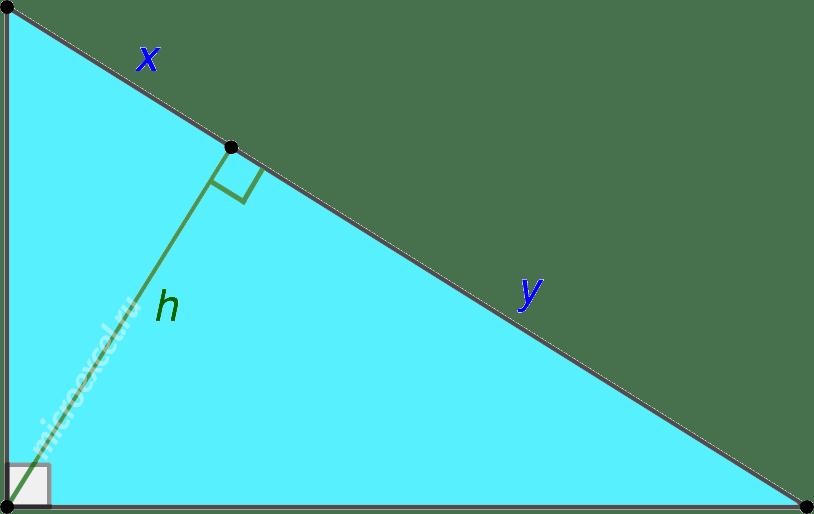Высота к гипотенузе в прямоугольном треугольнике