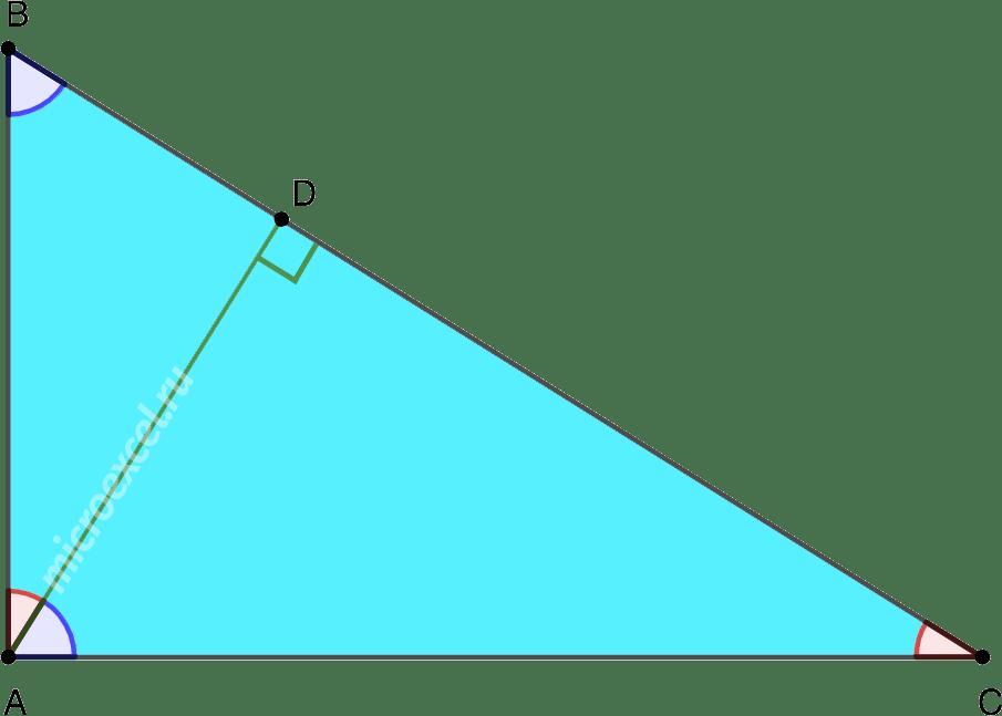 Деление прямоугольного треугольника высотой из вершины прямого угла на подобные треугольники