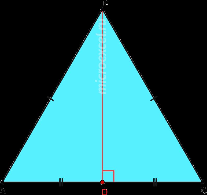 Высота в равностороннем треугольнике