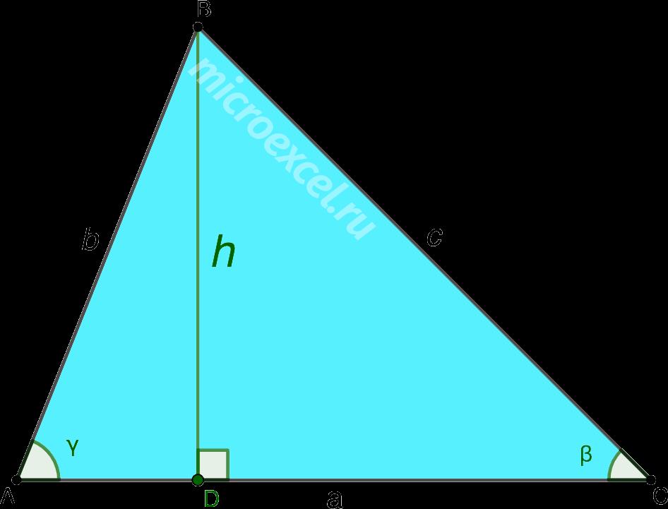 Высота в разностороннем треугольнике ABC
