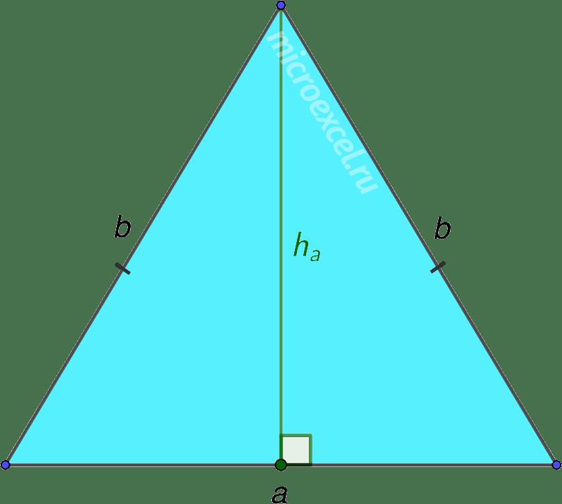 Опущенная на основание равнобедренного треугольника высота