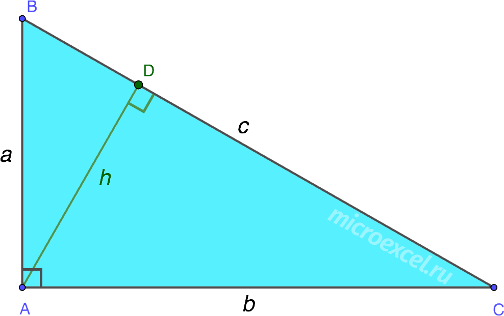 Проведенная к гипотенузе высота в прямоугольном треугольнике