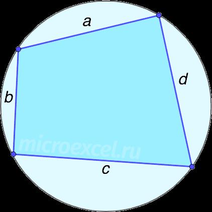 Четырехугольник abcd с описанной вокруг окружностью