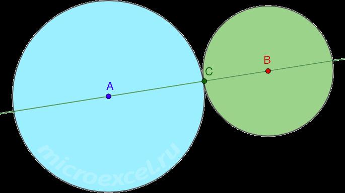 Касание двух окружностей