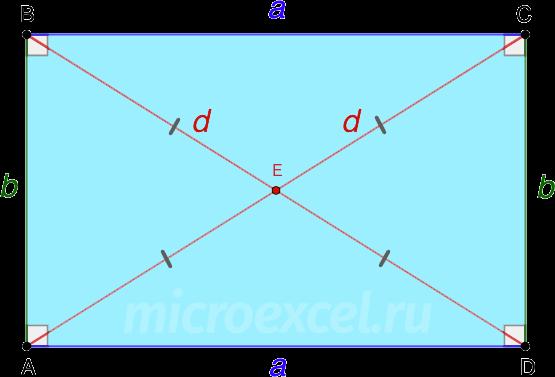 Равенство диагоналей прямоугольника