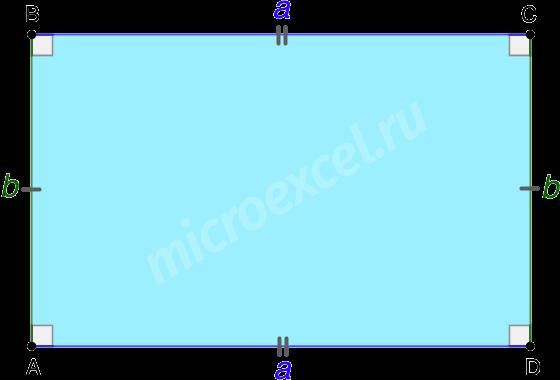Попарное равенство и параллельность сторон прямоугольника