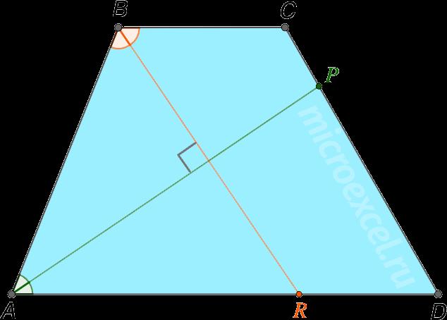 Перпендикулярность биссектрис углов трапеции при одной и той же боковой стороне