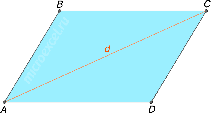 Диагональ параллелограмма