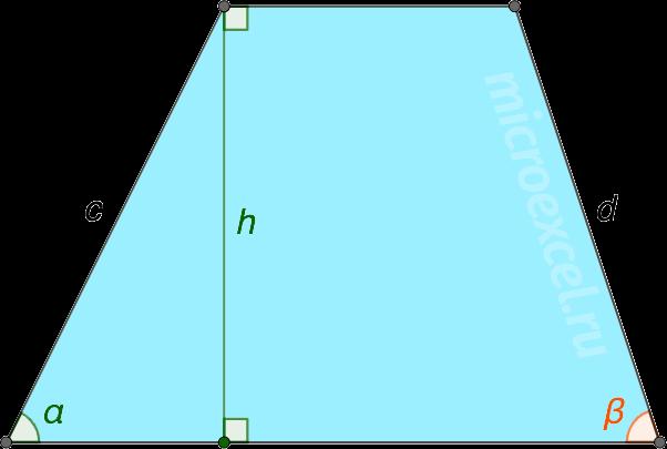 Трапеция abcd с углами α и β при основании