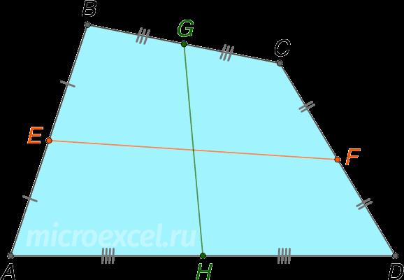 Средние лини выпуклого четырехугольника