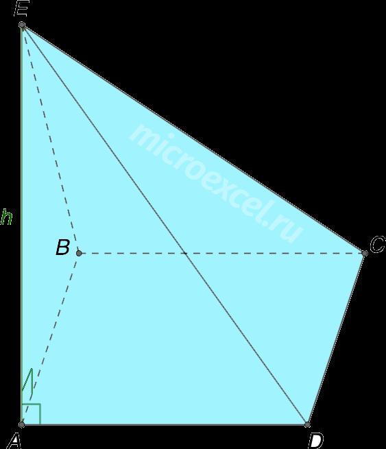 Пирамида с перпендикулярным основанию боковым ребром