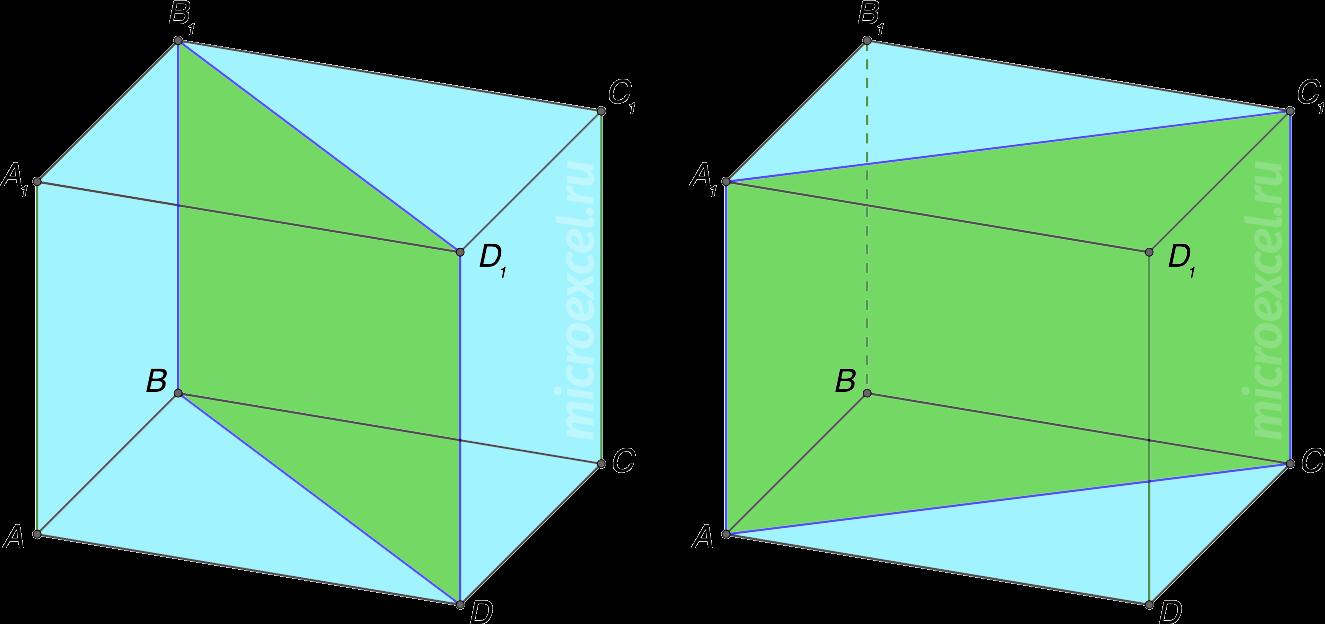 Диагональное сечение призмы