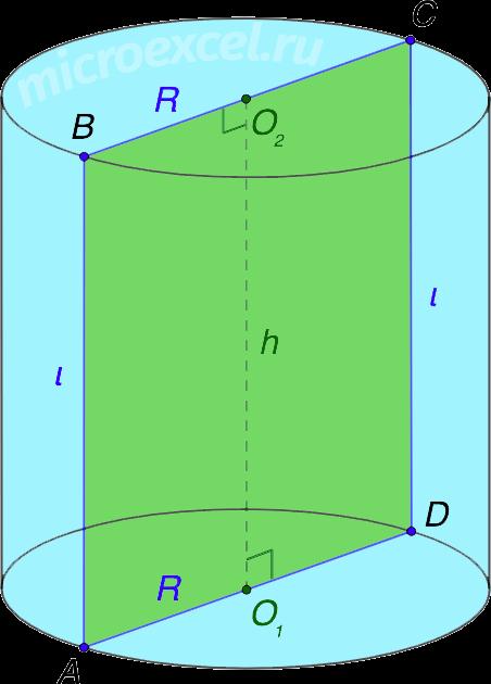 Цилиндр вращения (прямой круговой цилиндр)