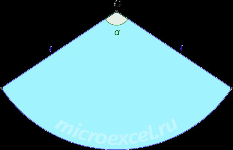 Развертка конуса