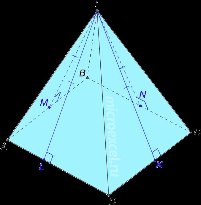 Равенство высот боковых граней пирамиды