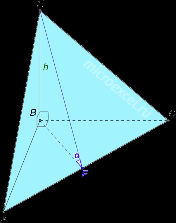 Прямоугольный тетраэдр