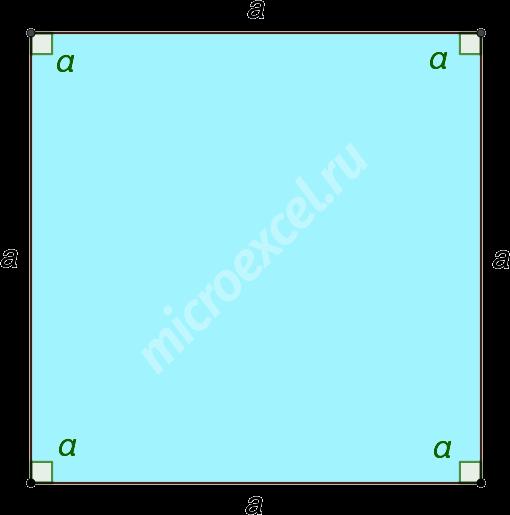 Правильный четырехугольник (квадрат)