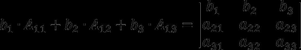 Свойство алгебраических дополнений к элементам определителя матрицы