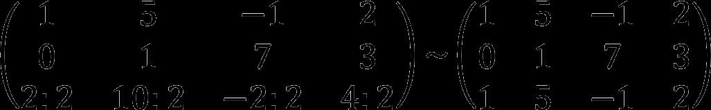 Элементарные преобразования матрицы