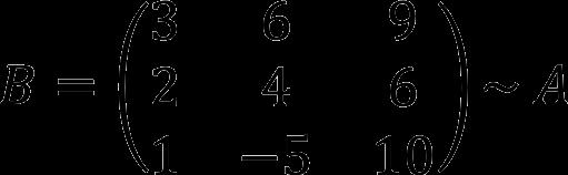 Результат перестановки строк матрицы местами