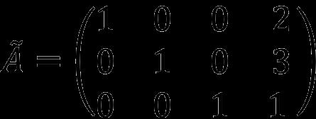 Пример расширенной матрицы СЛАУ