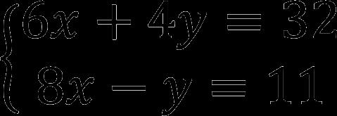 Пример системы линейных уравнений (СЛАУ)