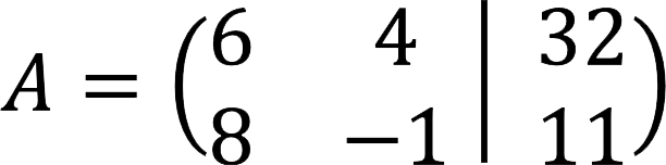 Пример расширенной матрицы