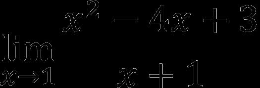 Пример предела функции
