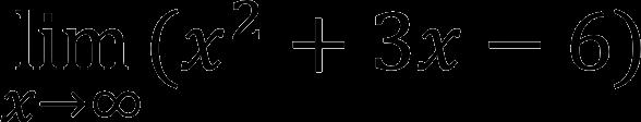Предел с бесконечностью (пример)