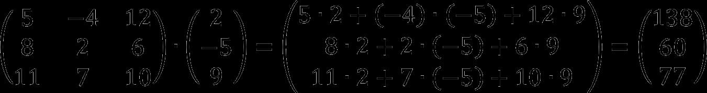 Умножение матриц третьего порядка (пример)