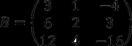 Пример матрицы три на три